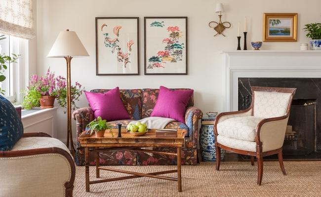 Cùng ngắm các mẫu phòng khách chỉ dành cho những ai yêu thích màu nổi - Ảnh 3.