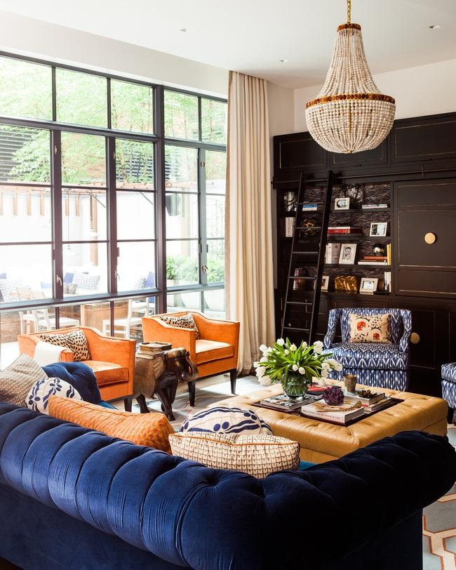Cùng ngắm các mẫu phòng khách chỉ dành cho những ai yêu thích màu nổi - Ảnh 4.