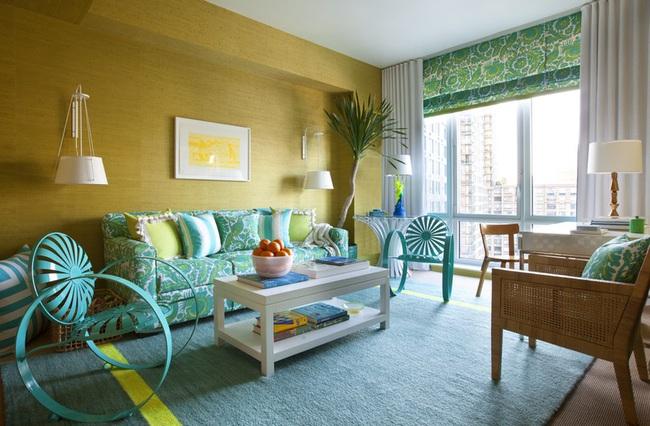 Cùng ngắm các mẫu phòng khách chỉ dành cho những ai yêu thích màu nổi - Ảnh 6.