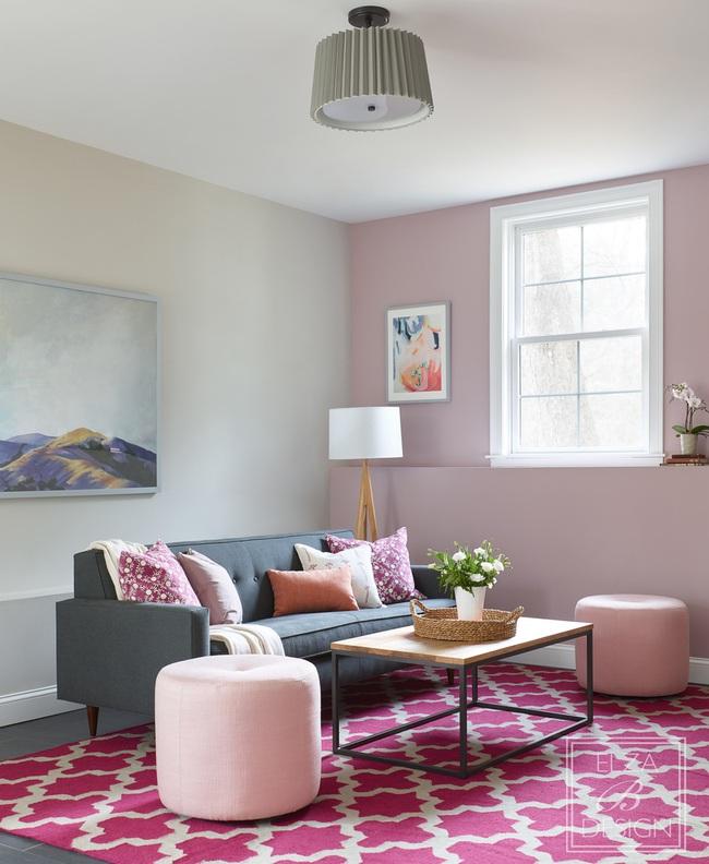 Cùng ngắm các mẫu phòng khách chỉ dành cho những ai yêu thích màu nổi - Ảnh 11.