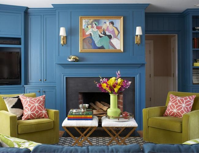 Cùng ngắm các mẫu phòng khách chỉ dành cho những ai yêu thích màu nổi - Ảnh 12.