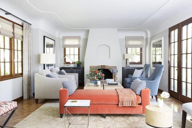 Cùng ngắm các mẫu phòng khách chỉ dành cho những ai yêu thích màu nổi - Ảnh 14.