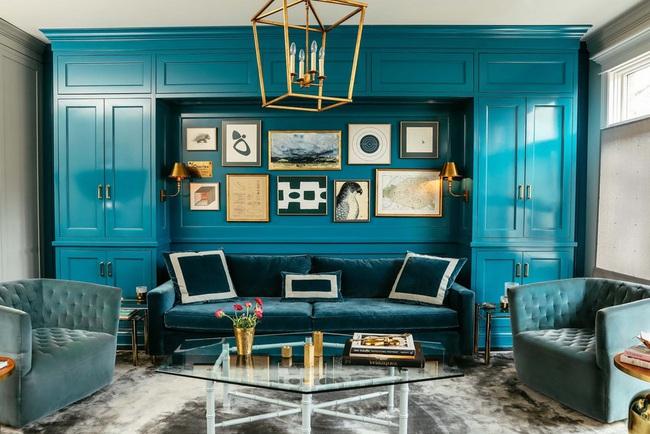 Cùng ngắm các mẫu phòng khách chỉ dành cho những ai yêu thích màu nổi - Ảnh 15.