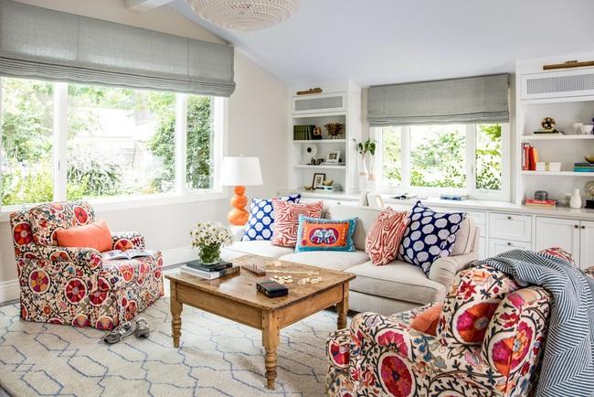 Cùng ngắm các mẫu phòng khách chỉ dành cho những ai yêu thích màu nổi - Ảnh 16.