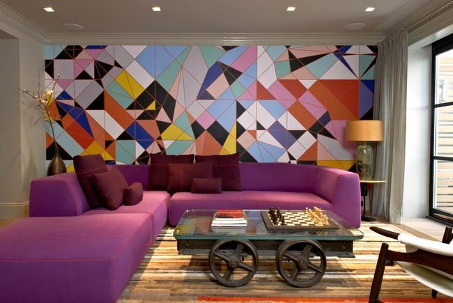 Cùng ngắm các mẫu phòng khách chỉ dành cho những ai yêu thích màu nổi - Ảnh 17.