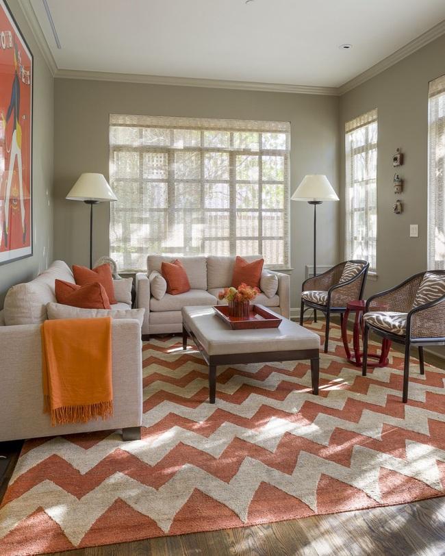 Cùng ngắm các mẫu phòng khách chỉ dành cho những ai yêu thích màu nổi - Ảnh 19.