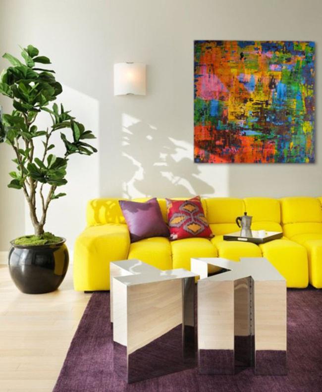 Cùng ngắm các mẫu phòng khách chỉ dành cho những ai yêu thích màu nổi - Ảnh 20.