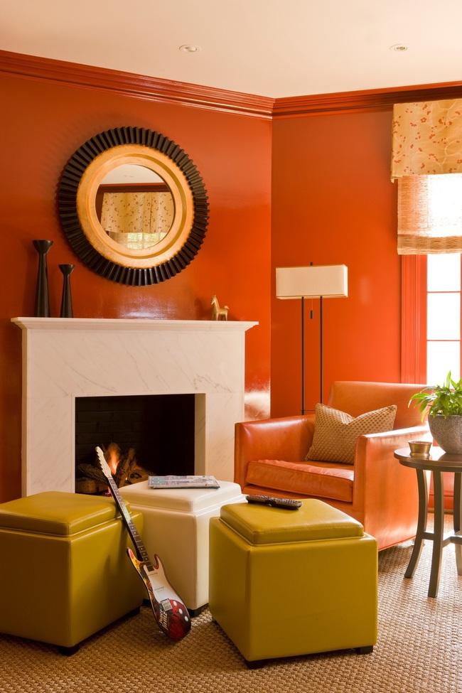 Cùng ngắm các mẫu phòng khách chỉ dành cho những ai yêu thích màu nổi - Ảnh 22.