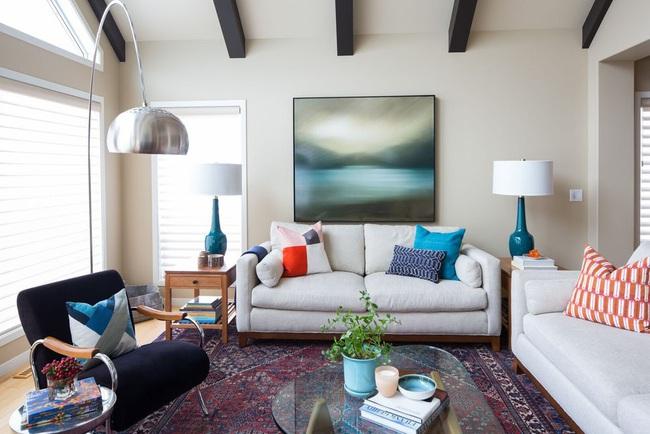 Cùng ngắm các mẫu phòng khách chỉ dành cho những ai yêu thích màu nổi - Ảnh 23.