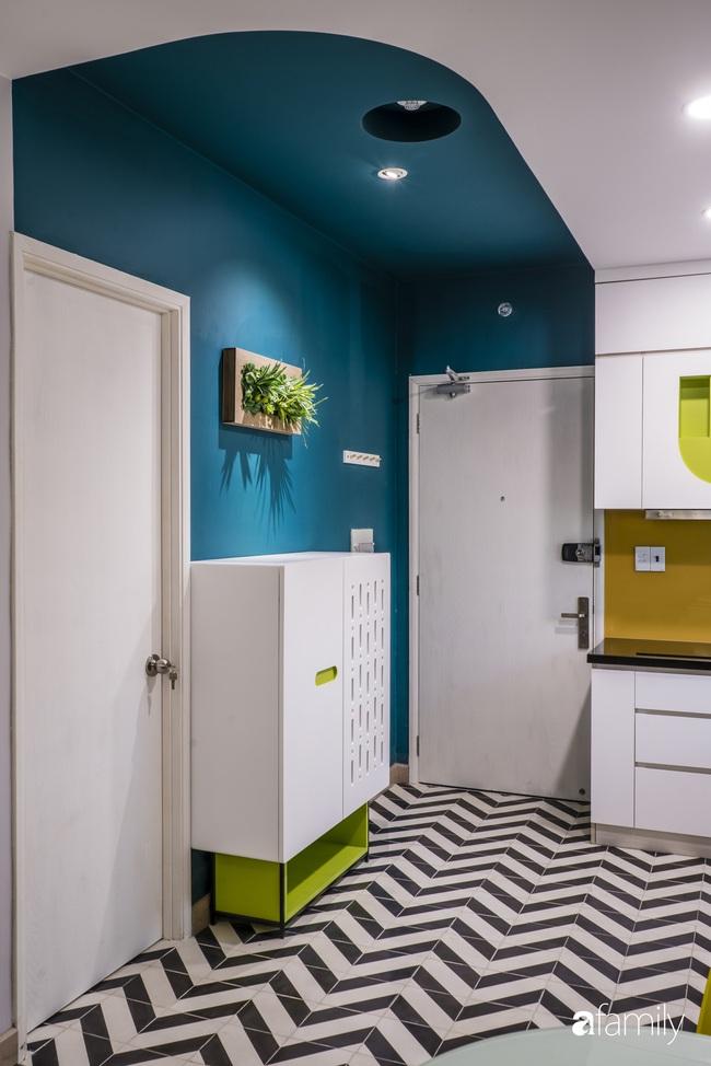 Căn hộ 60m2 nhỏ xinh với decor màu xanh lá ở quận 2, TP. HCM - Ảnh 1.