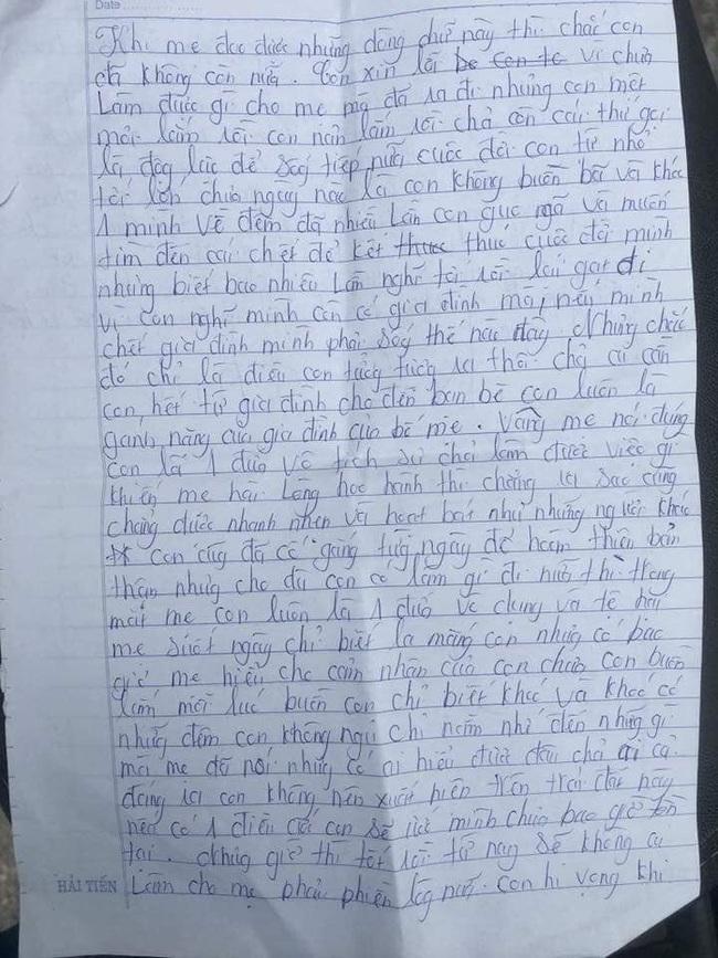 """Xót xa những dòng thư cuối cùng của cô bé 16 tuổi để lại cho bố mẹ trước khi nhảy cầu tự tử vì áp lực gia đình: """"Nếu có 1 điều ước con sẽ ước mình chưa bao giờ tồn tại"""" - Ảnh 1."""
