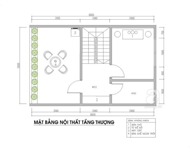 Tư vấn thiết kế nội thất phù hợp cho nhà phố với diện tích xây dựng 5x8m có tổng chi phí là  - Ảnh 4.