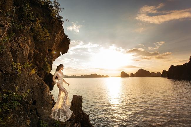 Vũ Thu Phương diện váy ôm cơ thể, khoe vóc dáng giữa thiên nhiên - Ảnh 6.