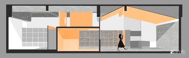"""Ngôi nhà 2 tầng mái dốc với trần bằng gỗ """"ẩn mình"""" trong căn hộ chung cư 103m2 ở Hà Nội - Ảnh 3."""
