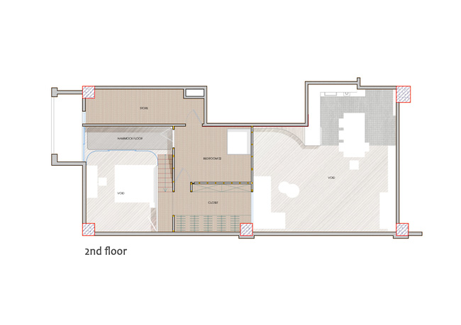 """Ngôi nhà 2 tầng mái dốc với trần bằng gỗ """"ẩn mình"""" trong căn hộ chung cư 103m2 ở Hà Nội - Ảnh 2."""