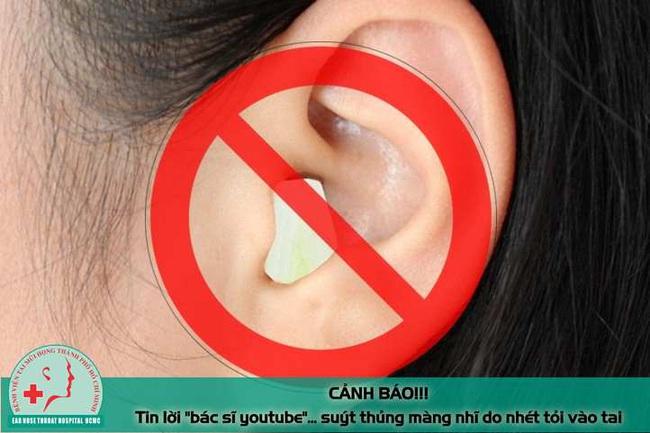 """Tin lời """"bác sĩ youtube"""" nam thanh niên suýt thủng mảng nhĩ vì nhét tỏi vào tai chữa bệnh - Ảnh 3."""