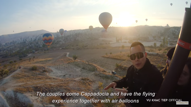 """Vũ Khắc Tiệp bỏ 9 triệu cho 1 tiếng bay khinh khí cầu ở Thổ Nhĩ Kỳ, dân tình bảo """"Nhờ cameraman nên mới follow kênh!"""" - Ảnh 9."""