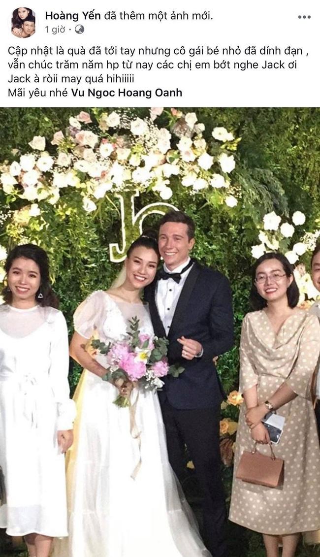 """Tiệc cưới của Á hậu Hoàng Oanh cùng ông xã người Mỹ điển trai: Cô dâu tiết lộ chuyện đặt tên con gái đầu lòng, chú rể xúc động nói """"anh yêu em nhiều lắm"""" bằng tiếng Việt - Ảnh 44."""