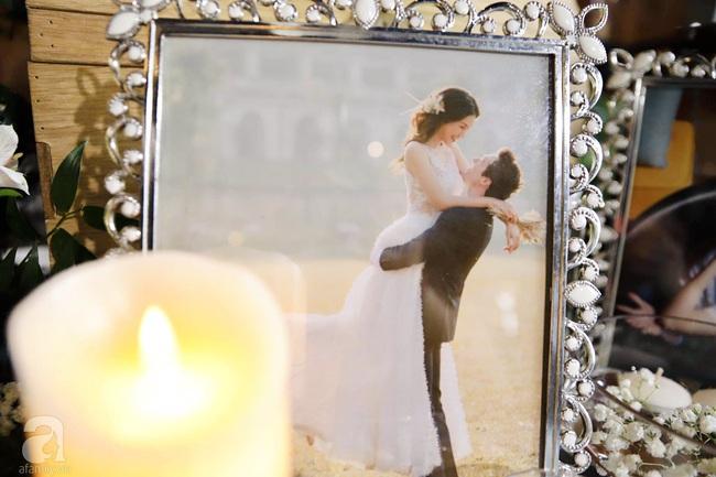 """Tiệc cưới của Á hậu Hoàng Oanh cùng ông xã người Mỹ điển trai: Cô dâu tiết lộ chuyện đặt tên con gái đầu lòng, chú rể xúc động nói """"anh yêu em nhiều lắm"""" bằng tiếng Việt - Ảnh 6."""