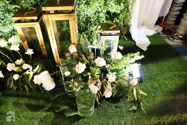 """Tiệc cưới của Á hậu Hoàng Oanh cùng ông xã người Mỹ điển trai: Cô dâu tiết lộ chuyện đặt tên con gái đầu lòng, chú rể xúc động nói """"anh yêu em nhiều lắm"""" bằng tiếng Việt - Ảnh 3."""