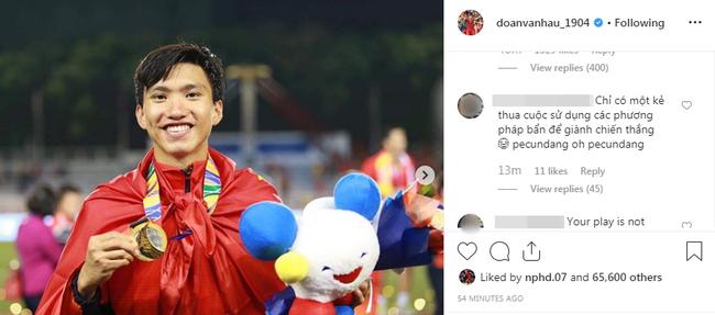 Đăng ảnh ăn mừng chiến thắng trên Instagram, Đoàn Văn Hậu bị cổ động viên Indonesia tràn vào bình luận miệt thị, xúc phạm nặng nề - Ảnh 5.