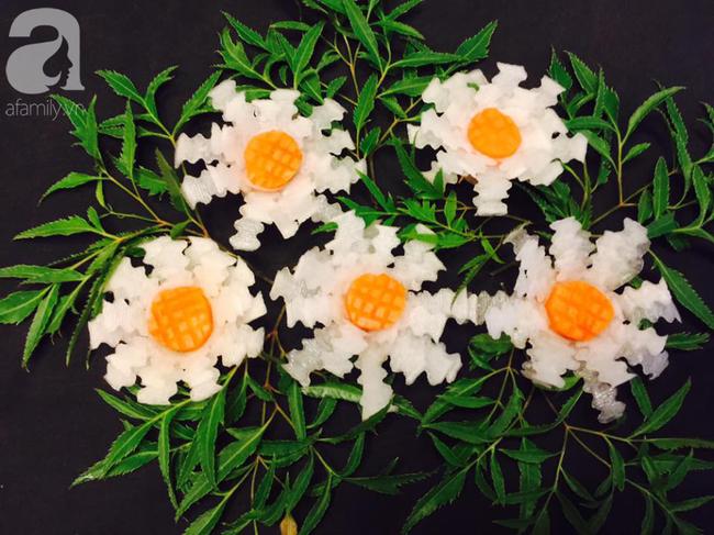 Biến củ cải trắng thành cúc họa mi đẹp tinh khiết với cách tỉa thật dễ dàng - Ảnh 8.