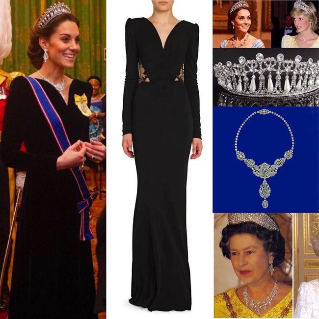 Công nương Kate Middleton kín đáo mà vẫn đẹp ná thở sau khi sửa váy để bớt sexy - Ảnh 3.