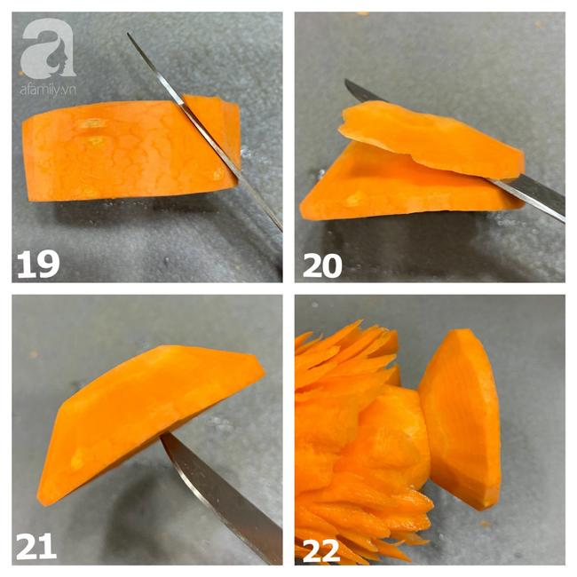 Mang không khí Noel lên bàn ăn với cách tỉa cà rốt thành cây thông siêu cute, vụng mấy cũng làm được - Ảnh 6.