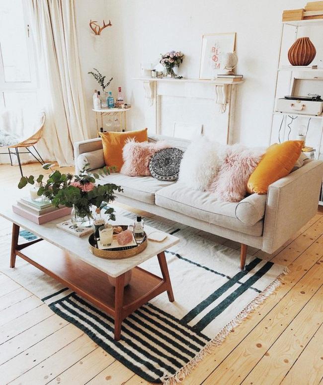 10 cách để làm sáng phòng khách màu be siêu dễ dàng - Ảnh 4.