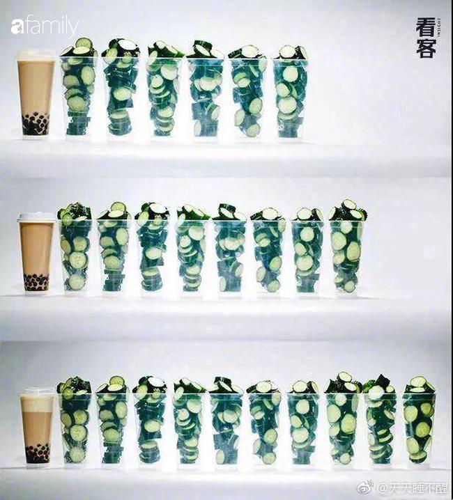 """Một cốc trà sữa bằng 5 bát cơm đầy: Ảnh quy đổi giúp bạn thấy rõ tác động """"hại dáng"""" của trà sữa - Ảnh 1."""