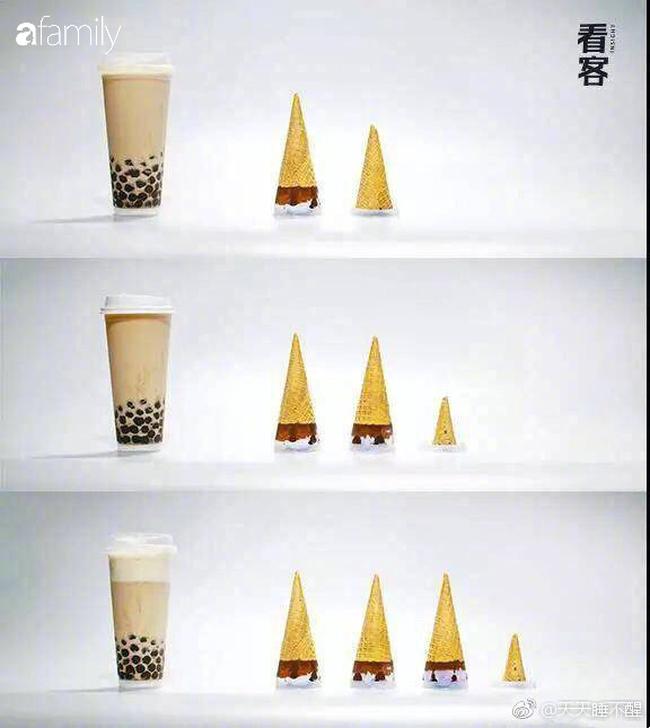 """Một cốc trà sữa bằng 5 bát cơm đầy: Ảnh quy đổi giúp bạn thấy rõ tác động """"hại dáng"""" của trà sữa - Ảnh 4."""