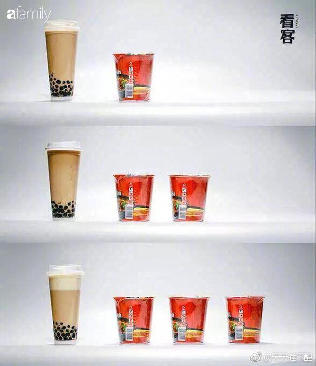 """Một cốc trà sữa bằng 5 bát cơm đầy: Ảnh quy đổi giúp bạn thấy rõ tác động """"hại dáng"""" của trà sữa - Ảnh 5."""