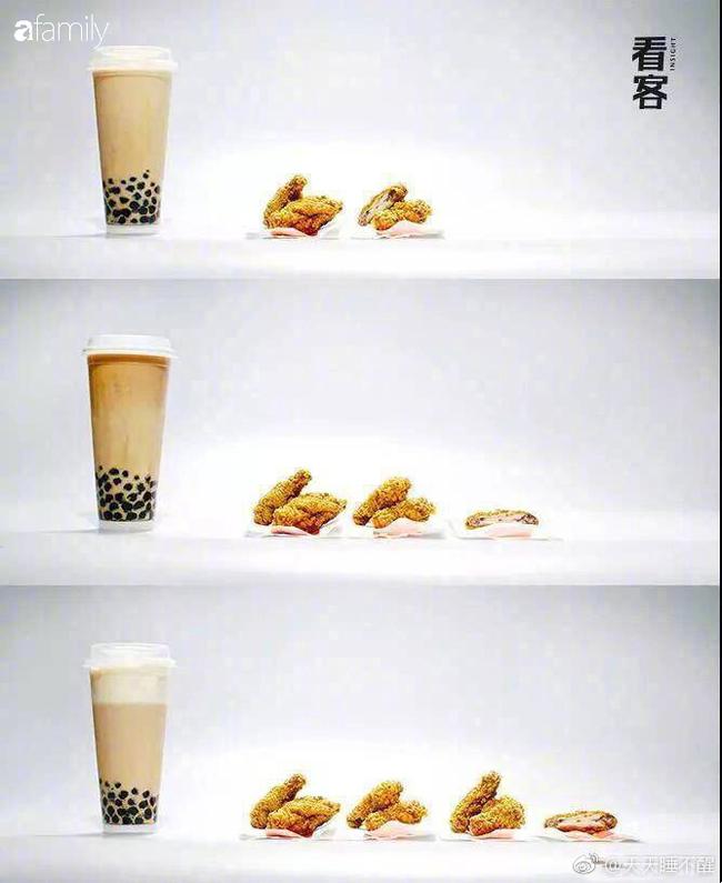 """Một cốc trà sữa bằng 5 bát cơm đầy: Ảnh quy đổi giúp bạn thấy rõ tác động """"hại dáng"""" của trà sữa - Ảnh 6."""