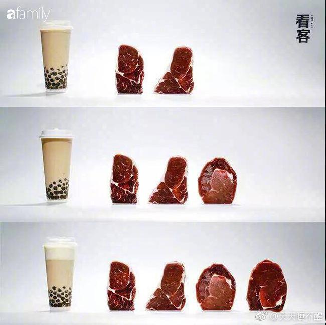 """Một cốc trà sữa bằng 5 bát cơm đầy: Ảnh quy đổi giúp bạn thấy rõ tác động """"hại dáng"""" của trà sữa - Ảnh 7."""