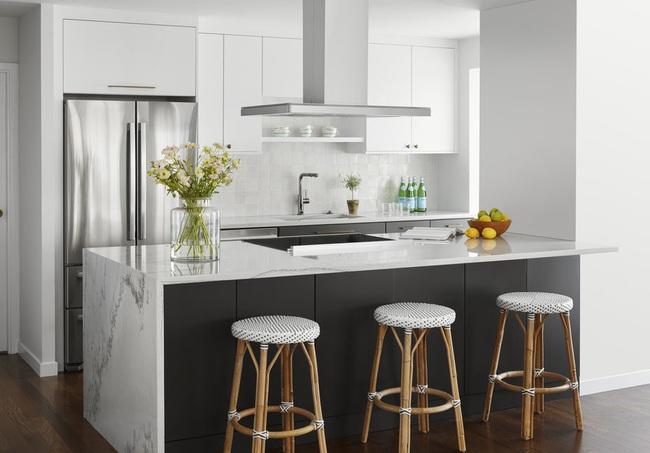 Căn bếp đen - trắng vừa đẹp vừa sang lại luôn gọn gàng ngăn nắp - Ảnh 6.