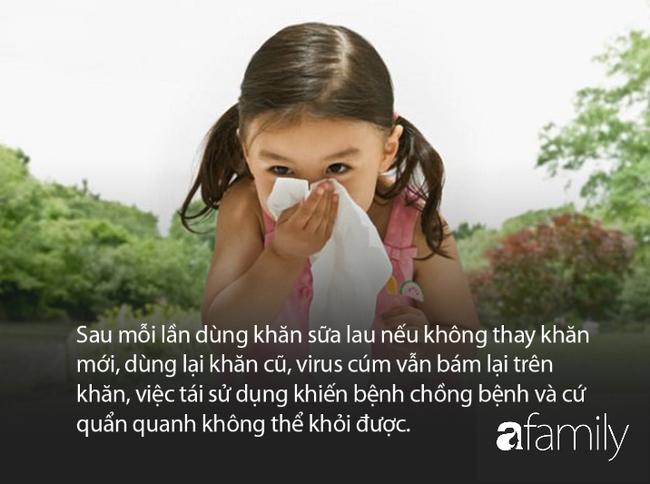 Cảnh báo khi mùa cúm đang bùng phát: Dùng khăn sữa lau cho trẻ bị cúm khiến bệnh mãi không khỏi - Ảnh 1.