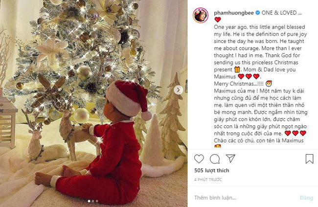 HOT: Hoa hậu Phạm Hương lần đầu công khai ảnh con trai 1 tuổi, tiết lộ về khoảng thời gian làm mẹ  - Ảnh 1.