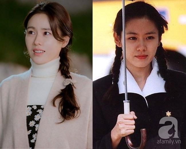 Crash Landing On You: Son Ye Jin vừa có màn hack tuổi đại thành công nhờ tóc tết, so với 16 năm trước thực chẳng khác là bao - Ảnh 4.