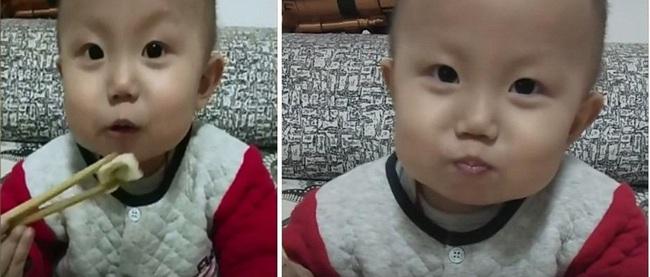 """Đằng sau vẻ mặt """"ham ăn"""" của cậu nhóc 2 tuổi là những nỗi đau đớn do căn bệnh ung thư ác tính gây ra khiến nhiều người không cầm được nước mắt - Ảnh 1."""