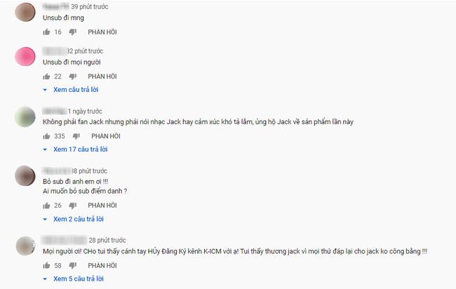 """Fans kêu gọi hủy subscribe và dislike MV """"Hoa Vô Sắc"""" để trừng trị K-ICM đòi công bằng cho Jack - Ảnh 3."""