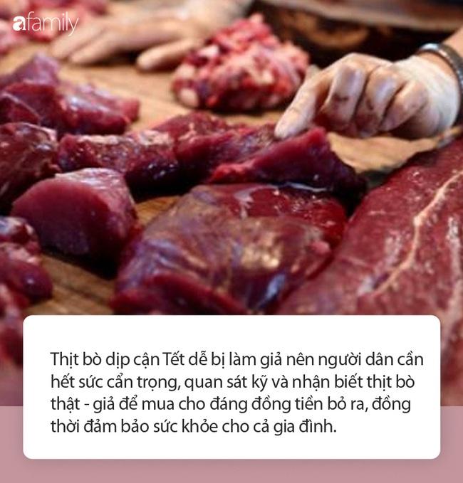 Cận Tết, cẩn trọng thịt bò giả tràn lan thị trường, làm thế nào để mua miếng thịt bò ngon cho cả nhà thưởng thức? - Ảnh 1.