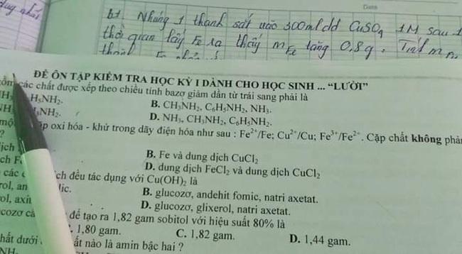 Thầy chủ nhiệm cho đề cương ôn tập không quên mắng cả lớp 1 câu, chẳng học sinh nào sợ còn phản ứng bất ngờ - Ảnh 1.