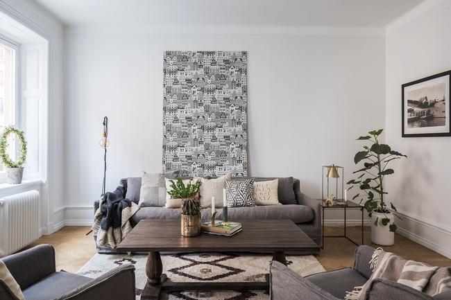 Nội thất màu sáng hài hòa trong căn hộ màu trắng xám siêu hiện đại ở Nga - Ảnh 6.