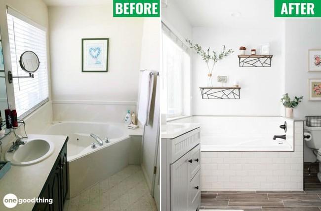 Những mẹo thú vị có thể bạn không nghĩ ra khi cải tạo phòng tắm nhỏ - Ảnh 1.