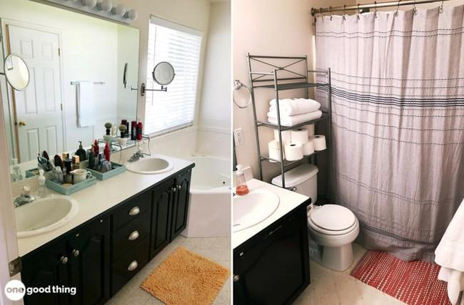 Những mẹo thú vị có thể bạn không nghĩ ra khi cải tạo phòng tắm nhỏ - Ảnh 2.
