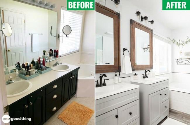 Những mẹo thú vị có thể bạn không nghĩ ra khi cải tạo phòng tắm nhỏ - Ảnh 6.