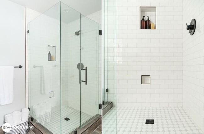 Những mẹo thú vị có thể bạn không nghĩ ra khi cải tạo phòng tắm nhỏ - Ảnh 4.