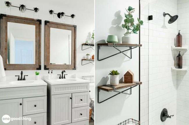 Những mẹo thú vị có thể bạn không nghĩ ra khi cải tạo phòng tắm nhỏ - Ảnh 7.