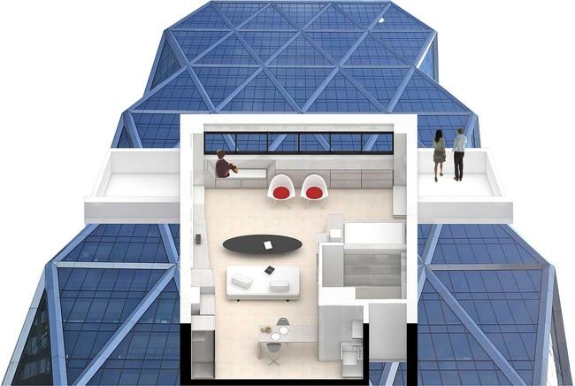 Học lỏm ngay cách phân vùng không gian sống thông minh từ căn hộ nhỏ - Ảnh 9.