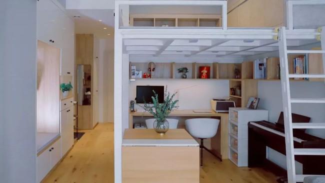 Căn hộ 48m² hẹp và dài gây ấn tượng với thiết kế mở có thể ở đến 6 người  - Ảnh 8.